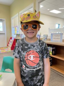 I won this hat and glasses at BINGO!!