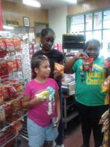 Redeeming our coupons at Big B's! Thanks Big B's!